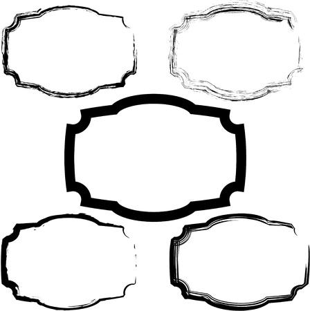 Old frames Vector