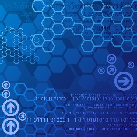 Blue digital background Vector