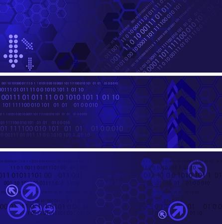 logo informatique: Bannières numériques Illustration