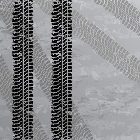 tyre tread: Tire tracks background