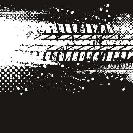 tyre tracks: Huellas de neum�ticos