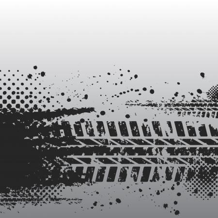 Reifen-Spur-Banner (42). Jpg Illustration