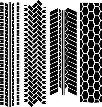rodamiento: Huellas de los neumáticos