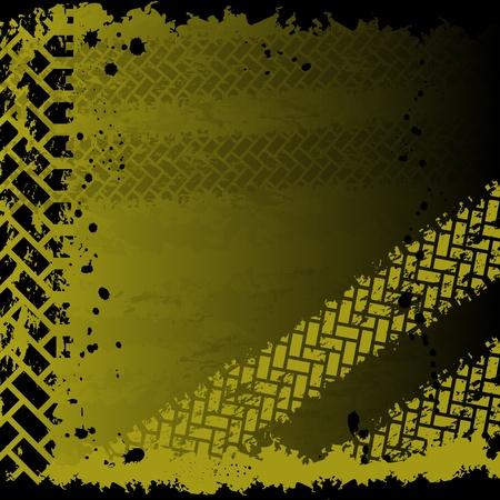 traces pneus: Arri�re-plan avec des traces de pneus