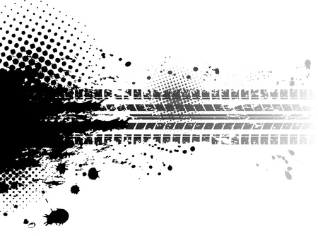 Grunge sfondo le tracce dei pneumatici