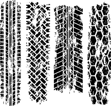tyre tread: Tire tracks