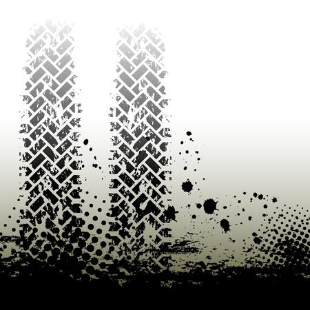 huellas de neumaticos: Tire las pistas de fondo Vectores