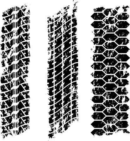 traces pneus: Grunge traces de pneus Illustration