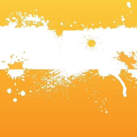 splodge: Orange ink background Illustration