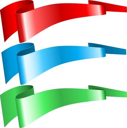 rgb: RGB ribbons Illustration