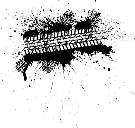 huellas de llantas: Tinta surco de la rueda