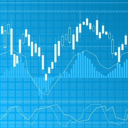 stock market charts: Finance background Illustration