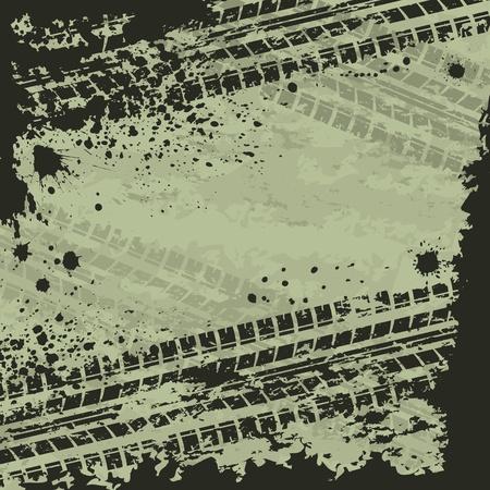 Reifen-Spur gr�nen Hintergrund