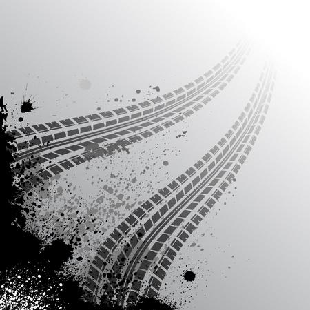 huellas de neumaticos: Fondo con pista de neumáticos