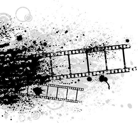 grunge photo frame: Grunge cinema