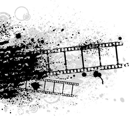 negativity: Grunge film Illustration