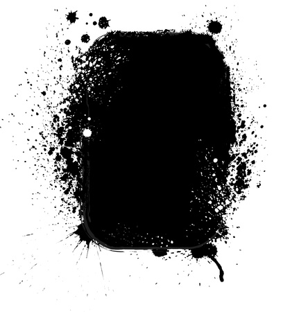 inkblot: Ink blots frame Illustration