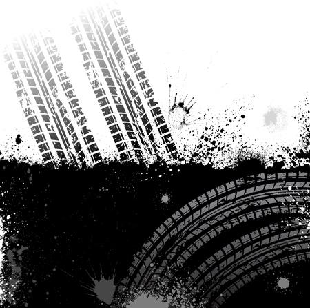 huellas de llantas: Tire de fondo pista