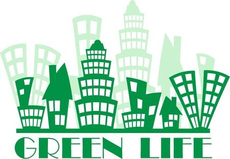 Green town Stock Vector - 12826150