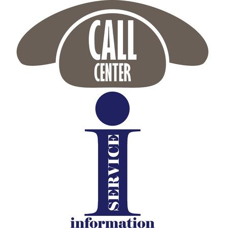 call center icon: Information service