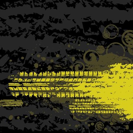 Gelb Reifenspur Hintergrund Illustration