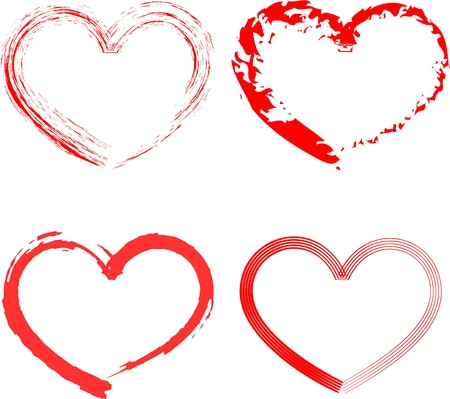 outline red: Hearts
