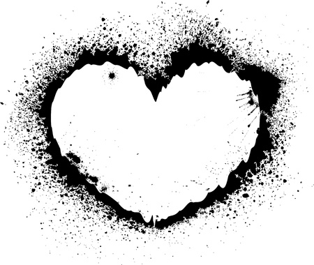 blots: Splash heart