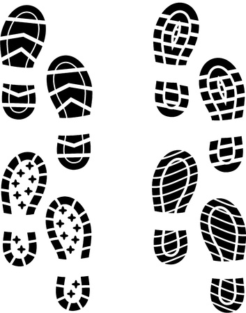 trace: Shoe print Illustration