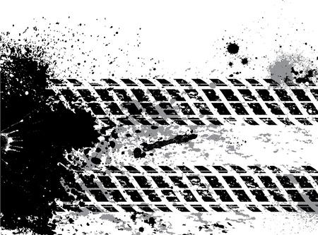 Grunge Reifenspur Hintergrund mit Blots