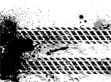 treads: Grunge tire track background with blots