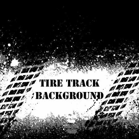 Tire track background Stock Vector - 14645273