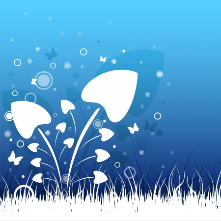 Beautiful grass Vector