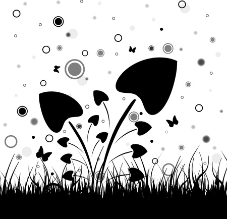 Black grass Vector