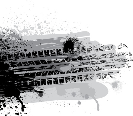 splodge: Tire track Illustration