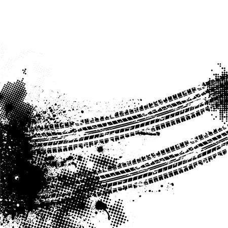 pisan: Pista del neum�tico negro Vectores