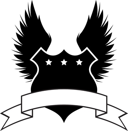 shiny shield: Shield and wings