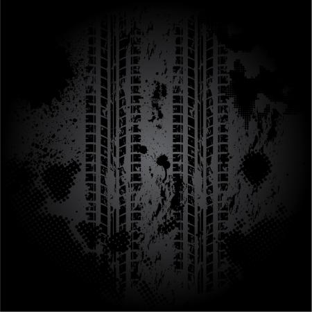 Black tire track background Ilustração