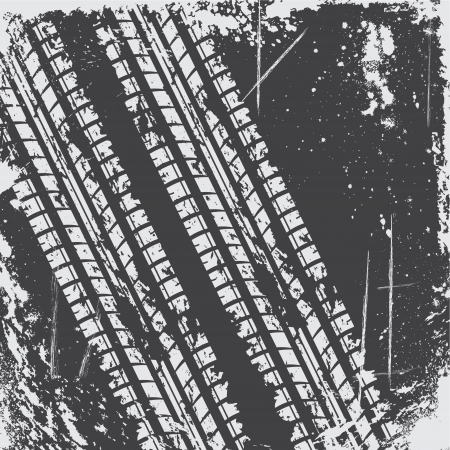 Tire track background Stock Vector - 15291735