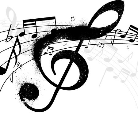 semiquaver: Treble clef Illustration