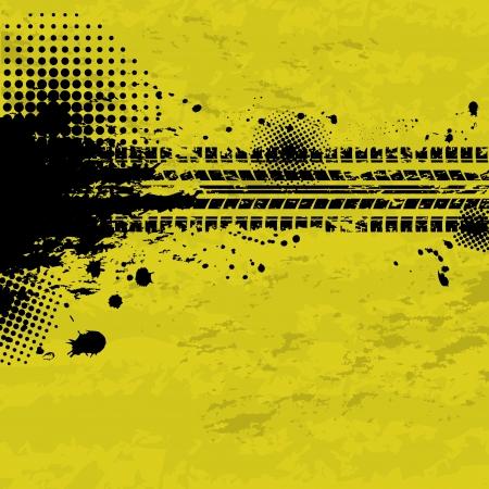 huellas de llantas: Grunge neum�tico pistas de fondo