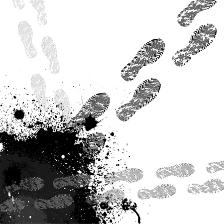 Footprint background Vector