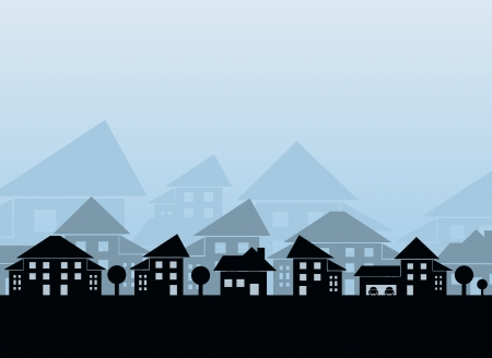 Estate skyline Vector