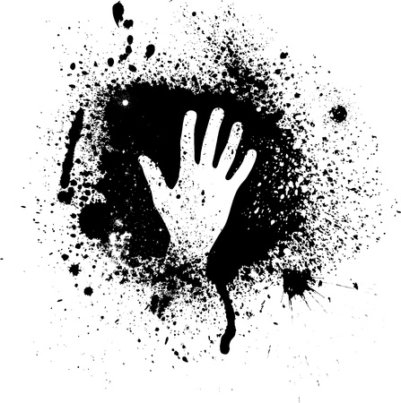 splodge: Ink blots and hand Illustration