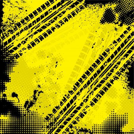rodamiento: Fondo amarillo de la pista del neumático