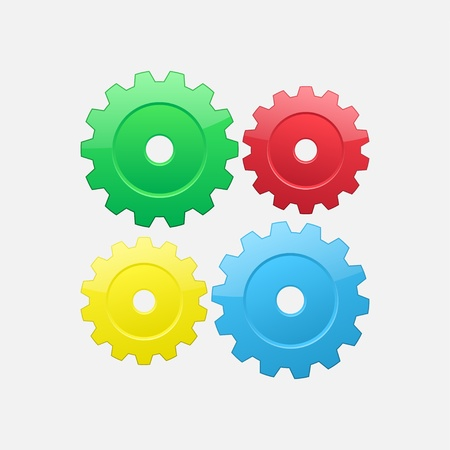 Four gears Stock Vector - 16702724