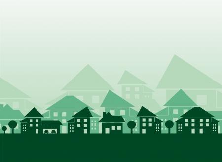 porch: Estate skyline Illustration