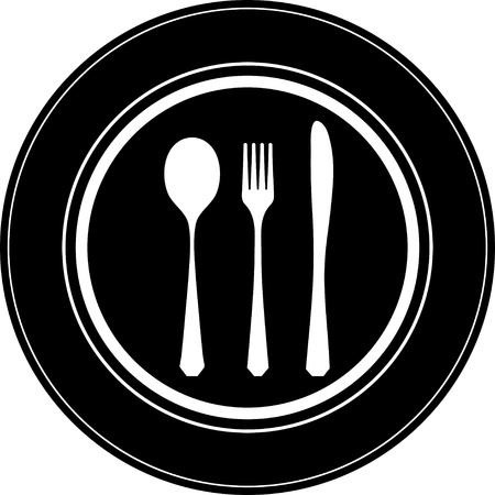 Cutlery white Vector