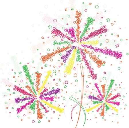 Firework outline Vector