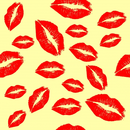 Red lips background Stock Vector - 16751618