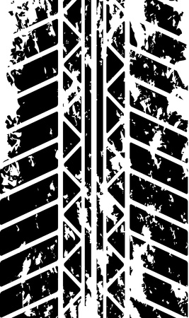 car tire: Tire track Illustration